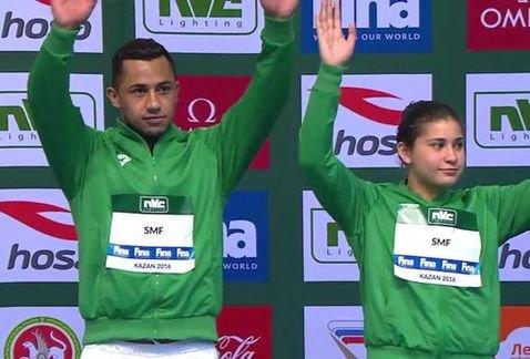 Dolores Hernández y Jahír Ocampo ganan plata en la Serie Mundial de Clavados