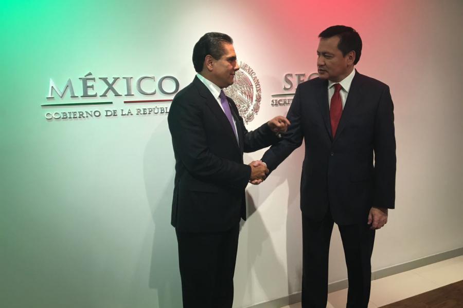 Revisan Silvano Aureoles y Miguel Ángel Osorio proyectos para Michoacán