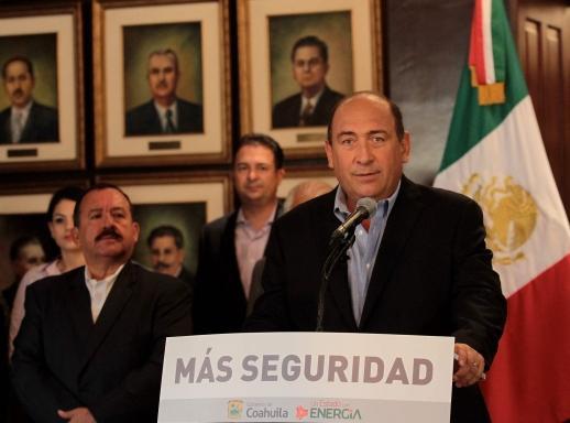 En Coahuila no hay tregua para los delincuentes: Rubén Moreira Valdez