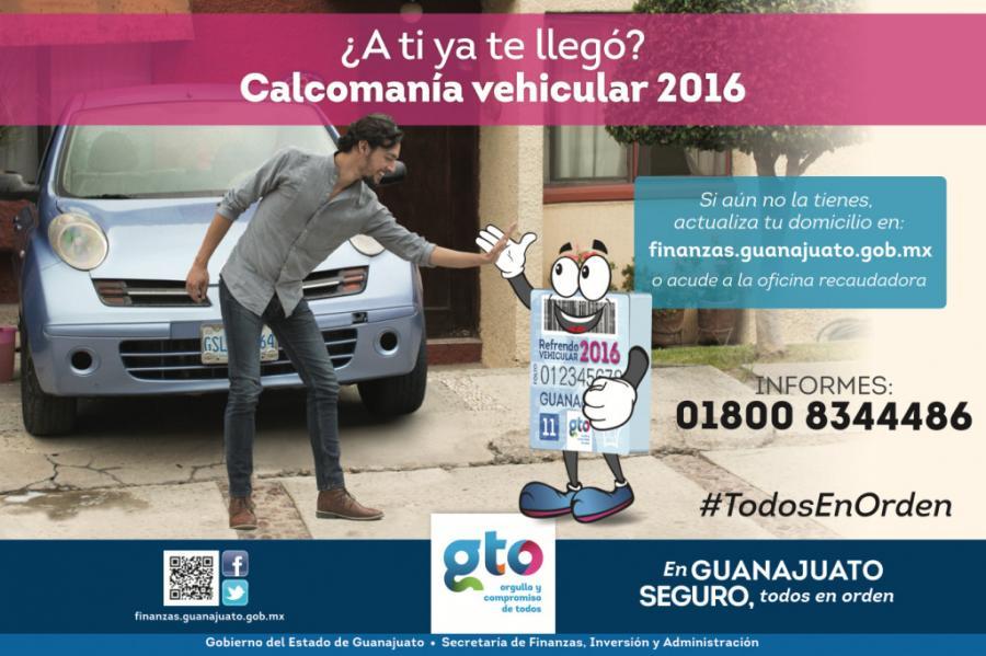 Realiza Gobierno del Estado entrega de la Calcomanía Vehicular 2016