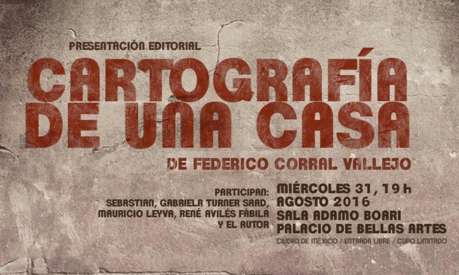 Se presentará Cartografía de una casa de Federico Corral Vallejo