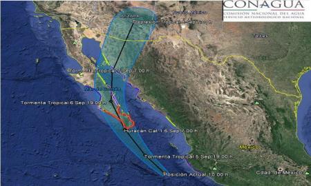 Se desplaza Newton hacia la península de Baja California