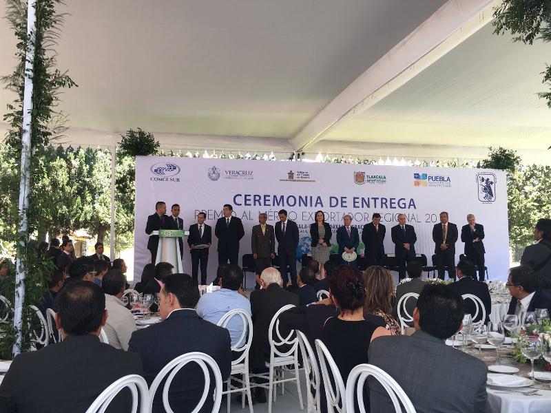 Empresas veracruzanas se consolidan con el Premio al Mérito Exportador Regional Sur 2015