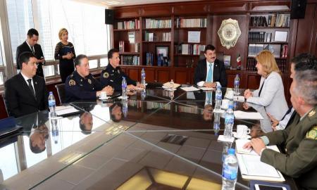 INTERCAMBIARÁN SSP-CDMX Y EMBAJADA DE COLOMBIA MODELOS DE CAPACITACIÓN POLICIAL