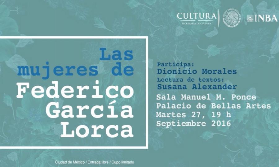 Dionicio Morales versará en Bellas Artes sobre las mujeres en la obra de Federico García Lorca