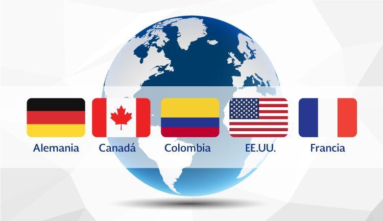 Países invitados a la Semana Nacional del Emprendedor: Alemania, Canadá, Colombia, Estados Unidos y Francia