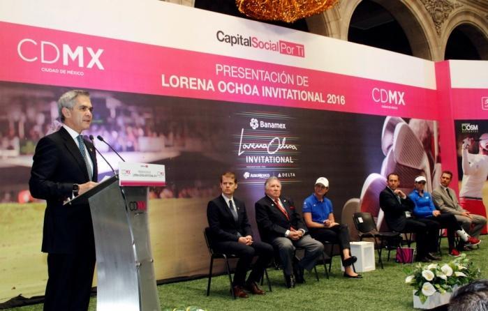 "CDMX, sede por tercer año consecutivo del Torneo de Golf ""Lorena Ochoa Invitational"""