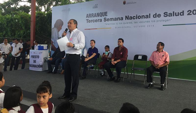 La vacunación es una política de estado en la agenda de salud del Gobierno de Chiapas