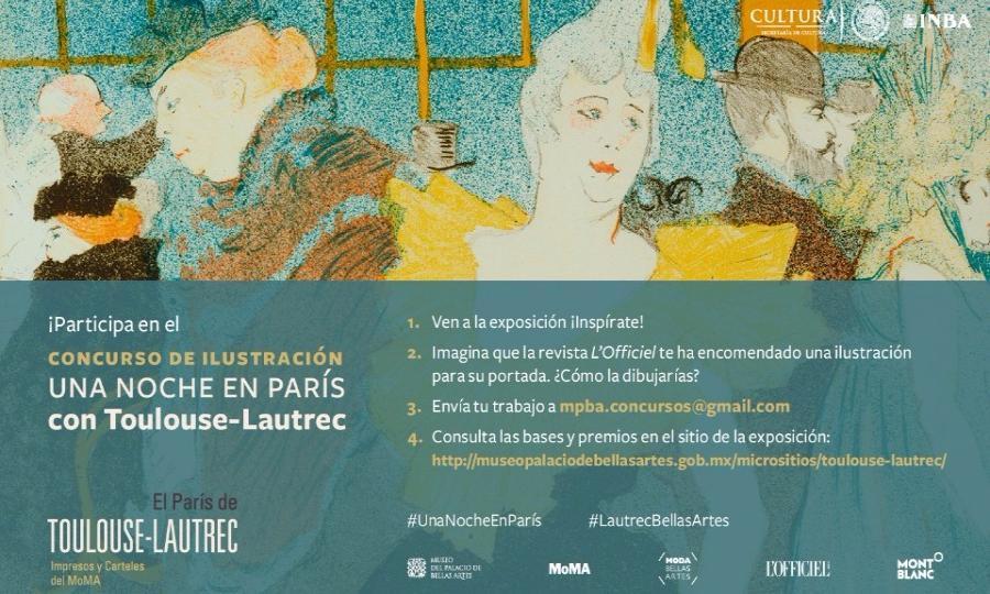 El Museo del Palacio de Bellas Artes, L´Officiel México y Montblanc convocan al concurso Una noche en París con Toulouse-Lautrec