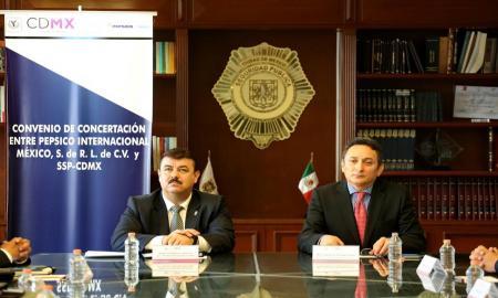 FIRMAN SSP-CDMX Y PEPSICO INTERNACIONAL MÉXICO CONVENIO EN MATERIA DE SEGURIDAD