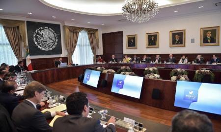 Encabezó el Presidente Enrique Peña Nieto una reunión con los integrantes de su Gabinete