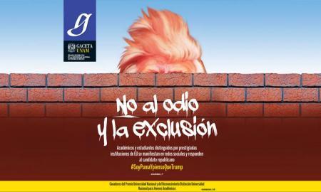 DISTINGUIDOS ACADÉMICOS Y ALUMNOS DE LA UNAM RESPONDEN A LA IGNORANCIA DE TRUMP SOBRE MÉXICO