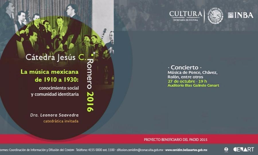 Se ofrecerá una gala de música mexicana en el marco de la Cátedra Jesús C. Romero 2016