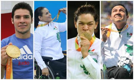 Reciben estímulo económico los medallistas paralímpicos de Río 2016