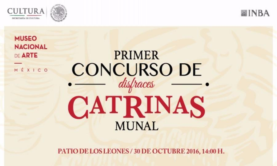 Concurso de disfraces de catrinas en el Munal