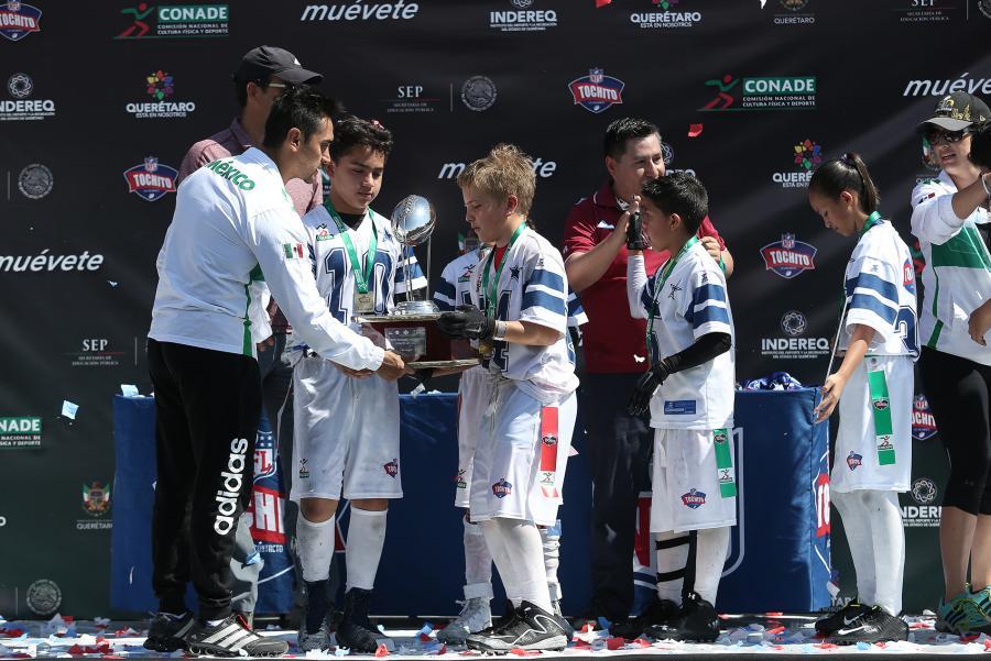 """Campeones de """"Tochito Bandera NFL-CONADE"""" ganan viaje a EUA; se"""