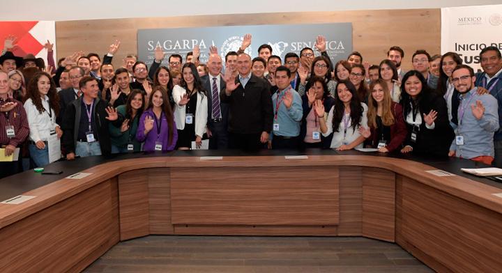 Listos 96 jóvenes rurales para capacitarse en E.U.