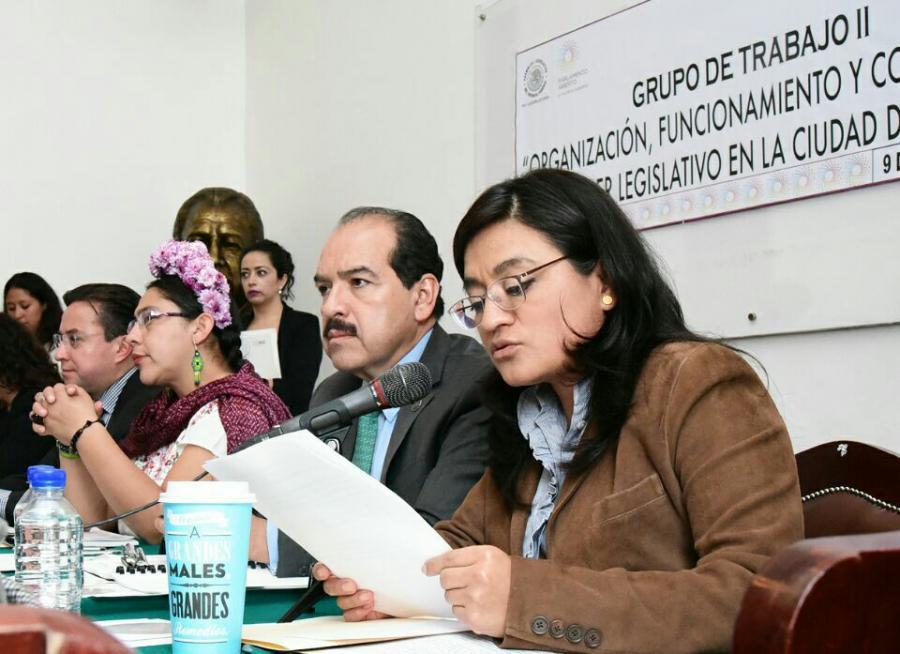 CONGRESO DE LA CIUDAD DE MÉXICO DEBE SER UN PARLAMENTO ABIERTO, PROPONE ALEIDA ALAVEZ