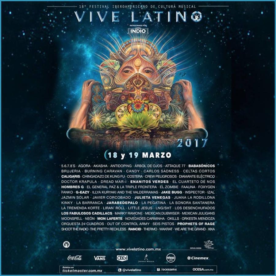 Cartel oficial del Vive Latino 2017