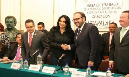 DIONE ANGUIANO PIDE SEIS MIL 700 MILLONES DE PESOS PARA IZTAPALAPA