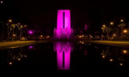 Ilumina Gobierno CDMX el Monumento de Álvaro Obregón en San Ángel