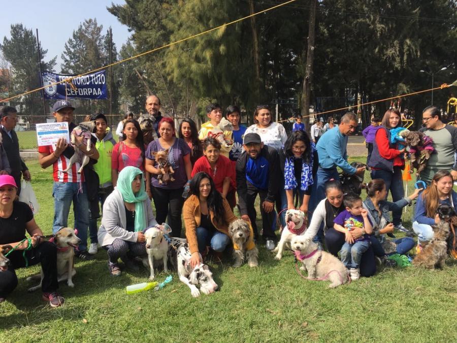 CONVIVEN EN IZTAPALAPA FAMILIAS CON SUS MASCOTAS CANINAS EN APOYO AL CUIDADO DE LOS ANIMALES EN LA CDMX