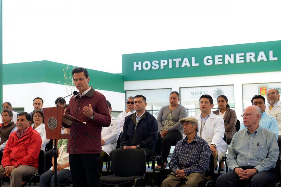 Enrique Peña Nieto inauguró el Hospital General de San Pablo del Monte