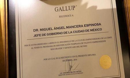 Reconocen a Miguel Ángel Mancera las acciones implementadas por su administración