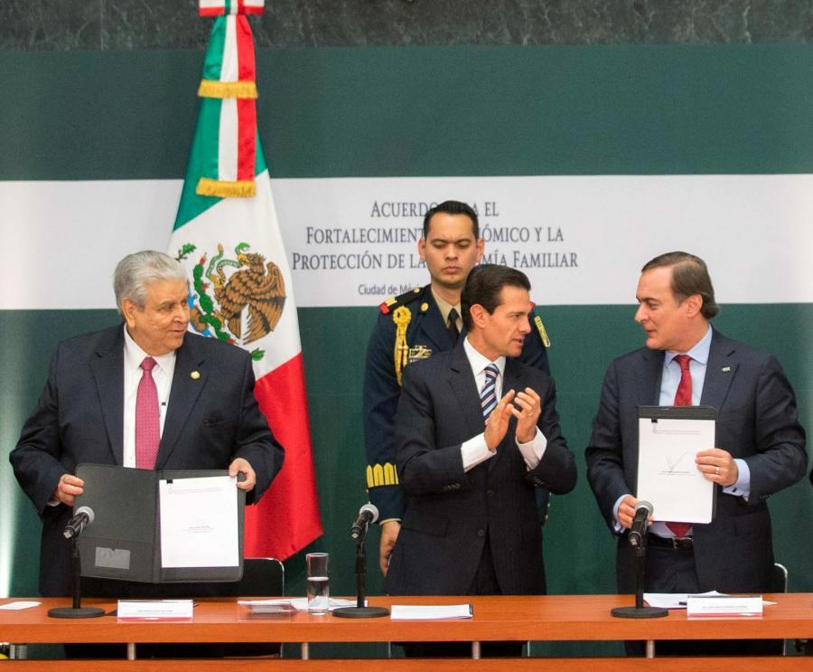 Compromisos del Acuerdo para el Fortalecimiento Económico y la Protección de la Economía Familiar