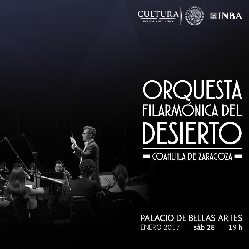 Se presentará en el Palacio de Bellas Artes la Orquesta Filarmónica del Desierto. Coahuila de Zaragoza