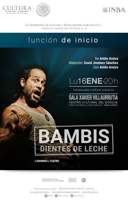 Presentan Bambis Dientes de Leche, una obra de futbol para los no futbolistas