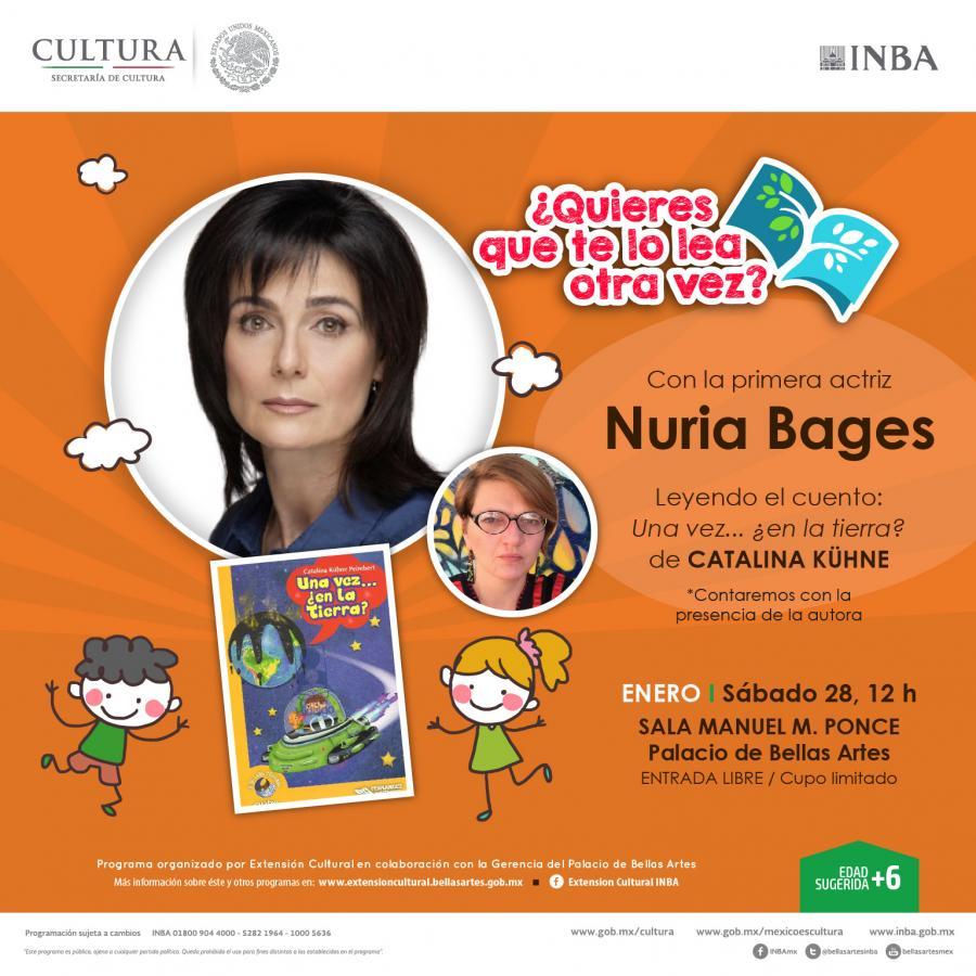 La actriz Nuria Bages leerá en voz alta Una vez ¿en la tierra? de Catalina Kuhne