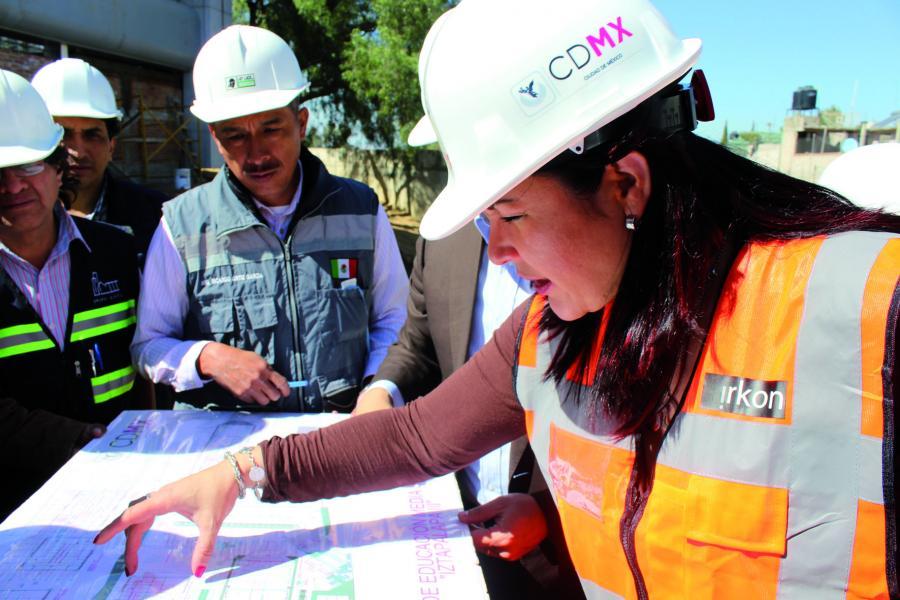 La construcción del plantel Iztapalapa III del IEMS está al 97% de avance
