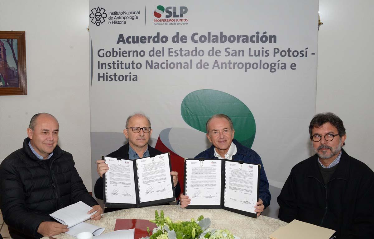 INAH Y GOBIERNO DE SLP REFRENDAN COMPROMISO EN PRO DEL PATRIMONIO CULTURAL POTOSINO