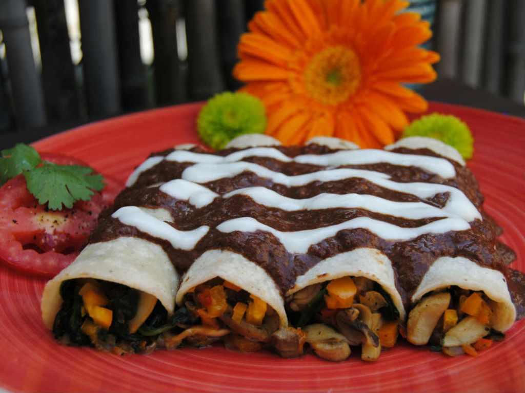 Feria de la enchilada vegana en CDMX