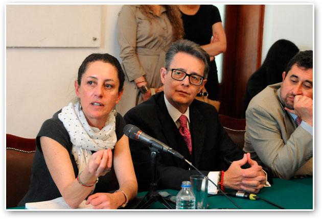 Claudia Sheinbaum, delegada de Tlalpan, comparece en la ALDF