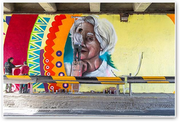 Promueven arte urbano en pueblos y colonias de Tlalpan