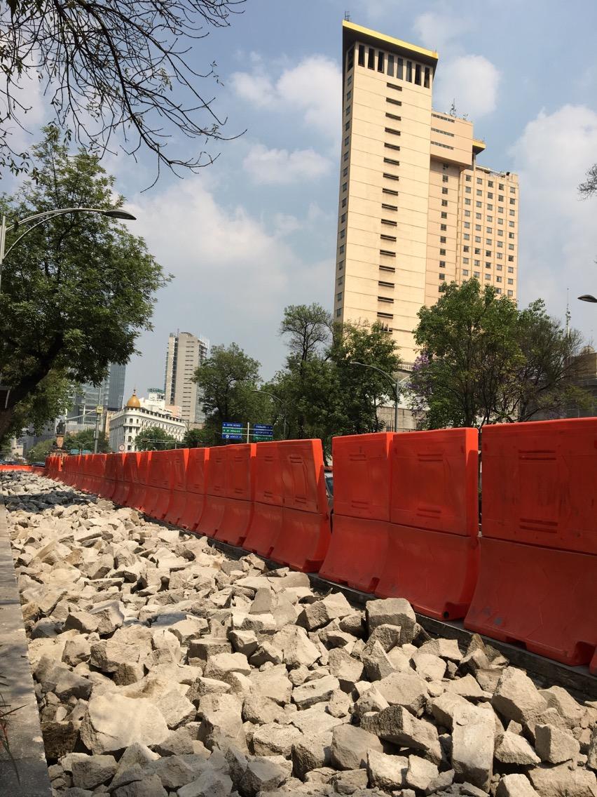 SOBSE informa que se construyó 3.5 kilómetros del carril confinado en Línea 7 del Metrobús