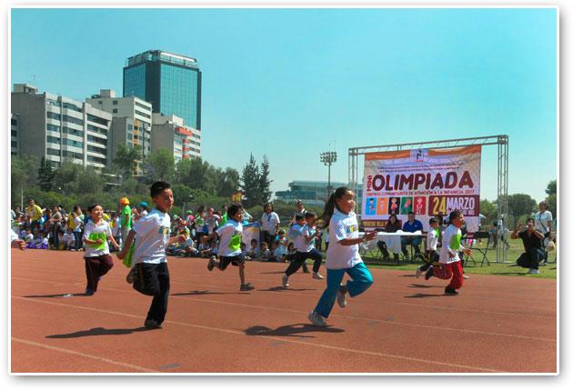 Participan mil 500 niños en Miniolimpiadas de Tlalpan