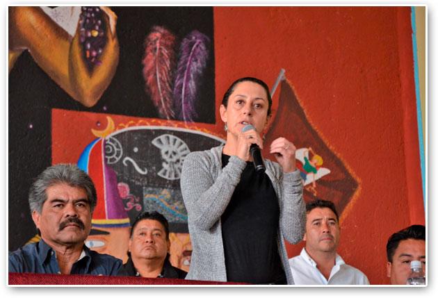 Pide Tlalpan apoyo al gobierno central para continuar obras en pueblos del Ajusco