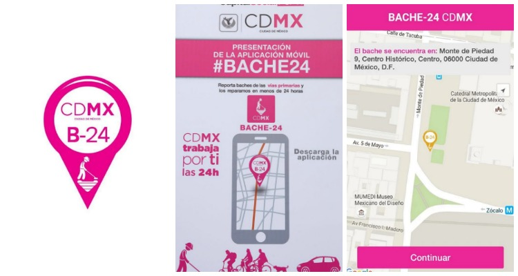 50 mil solicitudes de baches a través de la aplicación Bache-24 en ocho meses de operación