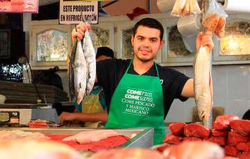 Ven a conocer algunos pescados en el mercado La Nueva Viga