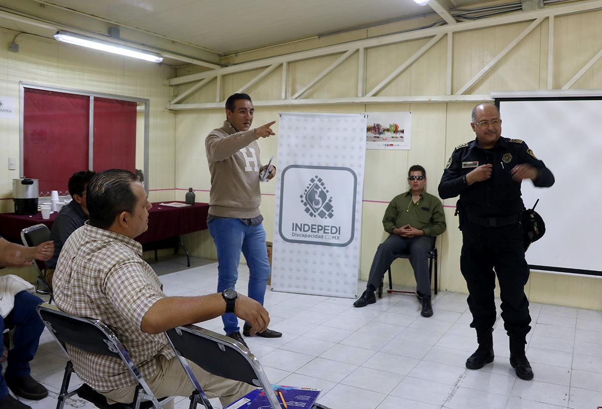 IMPARTE INDEPEDI TALLER DE SENSIBILIZACIÓN A PERSONAL DE LA SUBSECRETARÍA DE SISTEMA PENITENCIARIO DE LA CDMX