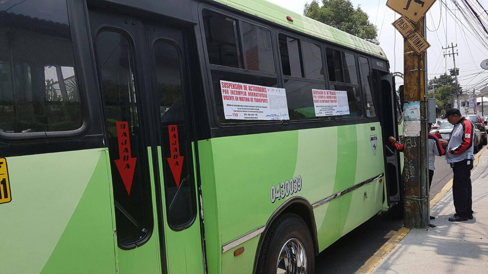 La Semovi inició el proceso de revocación a unidad de la ruta 66, ramal Ocotal - Miguel Ángel de Quevedo