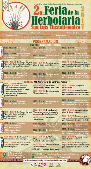 RECUPERAN TRADICIONES CURATIVAS EN EL SEGUNDO FESTIVAL DE LA HERBOLARIA EN XOCHIMILCO