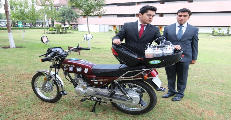 Crean en IPN sistema de oxihidrógeno para motocicleta ecológica