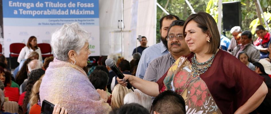 Continúa DMH regularización de títulos en Panteón Dolores