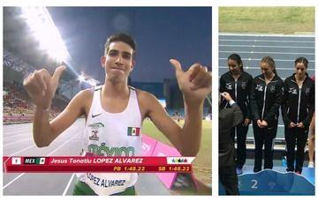México cierra con oro y plata actividades de atletismo