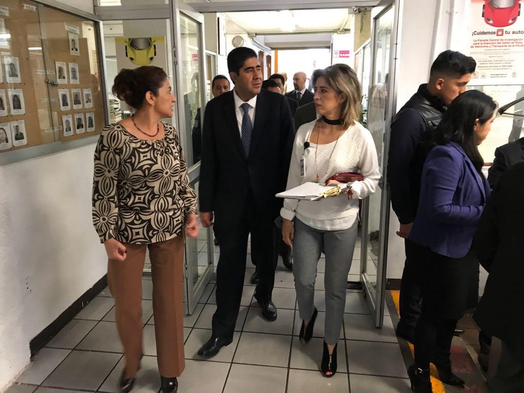 Acude Procurador capitalino, Edmundo Garrido Osorio, a Fiscalía de Tlalpan para supervisar labores