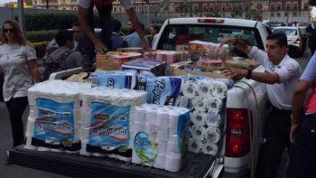 CDMX recauda 120 toneladas de víveres